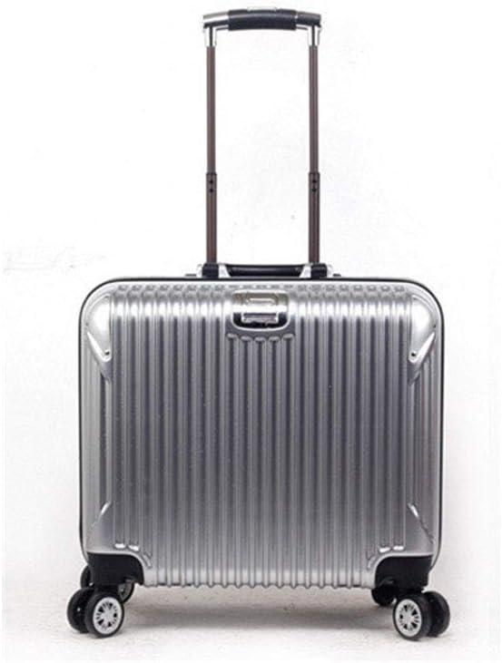 GJF Maleta Ligera y Dura, 2019 Nuevo chasis de Bloqueo de TSA Customs, Maleta de Ruedas silenciosas de 360°, ABS + PC Trolley Case, Viaje de Vacaciones de Negocios Plateado Plata Size
