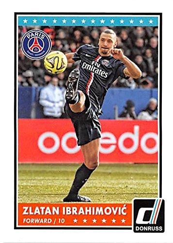 Zlatan Ibrahimovic trading card (Manchester United Soccer) 2015 Donruss #52