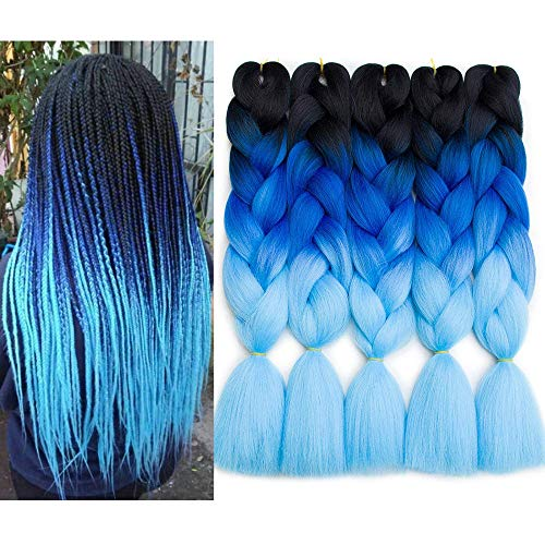 Ombre Kanekalon Braiding Extensions Synthetic product image