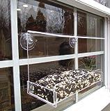 JCs Wildlife Window Bird Feeder Classic 8″ Acrylic Holds 2 cups