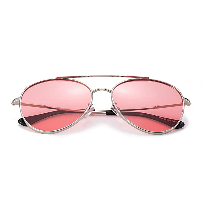 a496f93d82 Image Unavailable. Image not available for. Color  MT MIT Classic Aviator  Style Metal Frame Sunglasses Colored Lens ...