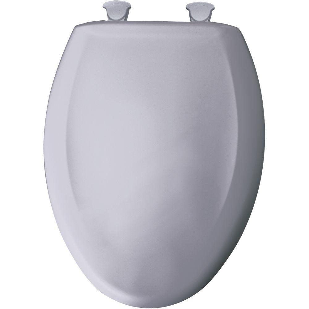 Bemis 1200SLOWT 319 Lift-Off Plastic Elongated Slow-Close Toilet Seat Lilac Gray
