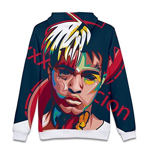 Sweat Rip Hip À Sweaters 4 Streetwear Xxxtentacion shirt Sweatshirt Unisexe Capuche Hop 3d Pull Sweat Rapper fqnwxAEv8