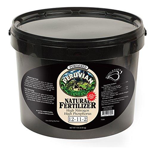 Sunleaves Powdered Peruvian Seabird Guano Natural Fertilizer 12-11-2, 15 lb