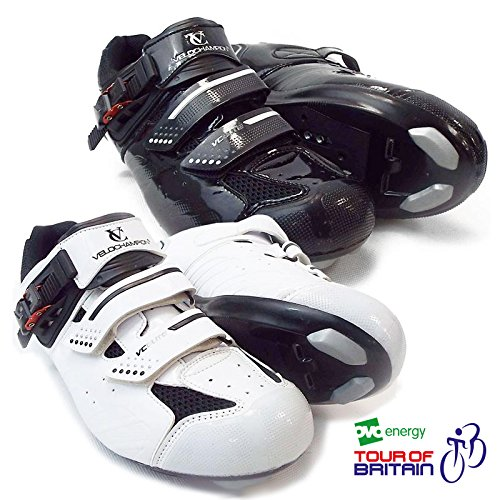 VeloChampion Elite Rennradschuh (Paar) Road Cycling Shoes White/Black
