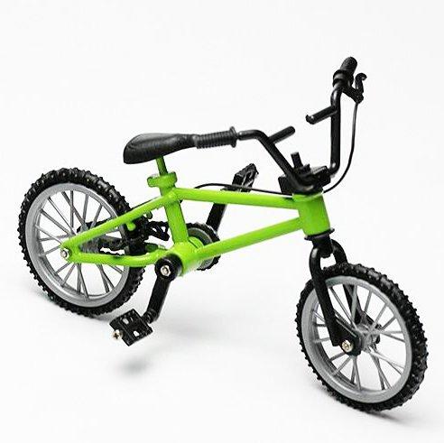 [해외]Shopline 손가락 산악 자전거 장난감 창의적인 시뮬레이션 자전거 장난감 모델 소년 어린이 선물 제작 / Shopline Finger Mountain Bike Toy, Creative Simulation Bicycle Toy Model, Gift Workmanship for Boys Kids Children  Green
