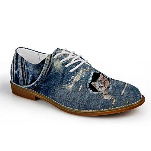 Hugs Idea Zapatos De Plataforma Oxford Con Cordones Ocasionales Para Hombre Azul Cat 2