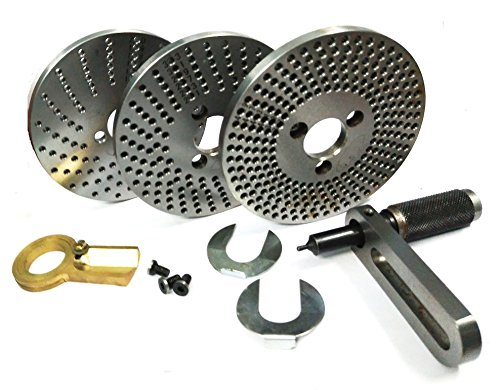 Steel Dividing Plates Set for HV4 /HV6 Rotary Table with Working Manual-Milling Indexing Kit by Global Tools