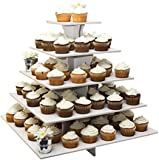 "The Smart Baker® 5 Tier Square Cupcake Stand Holds 100+ Cupcakes ""As Seen on Shark Tank"""