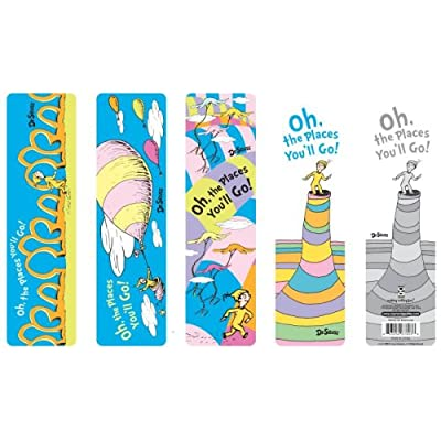 Dr Seuss Oh The Places You'll Go! Bookmark Assortment Set, 50 Pieces (67803) : Oh The Places Youll Go Bookmarks : Office Products