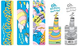 Dr Seuss Oh the Places You\'ll Go! Bookmark Assortment Set, 50 Pieces (67803)