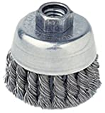 Radnor 2 3/4'' X 3/8'' - 24 Carbon Steel Knot Wire Cup Brush For Use On Small Angle Grinders