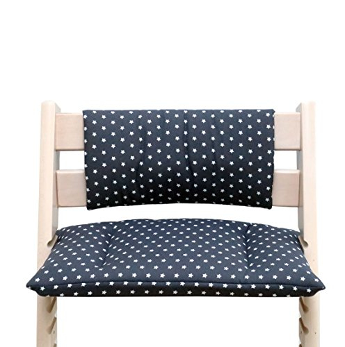 Blausberg Baby - Cushion for Tripp Trapp High Chair of Stokke - Dark Grey Star
