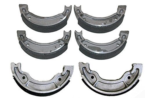 Front & Rear Brake Shoes Yamaha Grizzly 80 & 125 Breeze Badger 80 Raptor 50 & 80 by Factory Spec (Image #1)