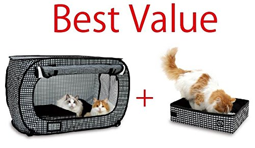 Necoichi Portable Stress Free Cat Cage and Litter Box Set (All Dogs Go To Heaven 3 Trailer)