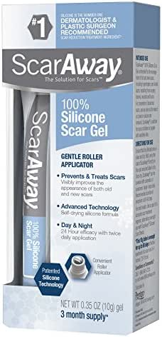 ScarAway Scar Treatment Gel, Clinically Supported to Flatten & Soften Raised Scars, 10g