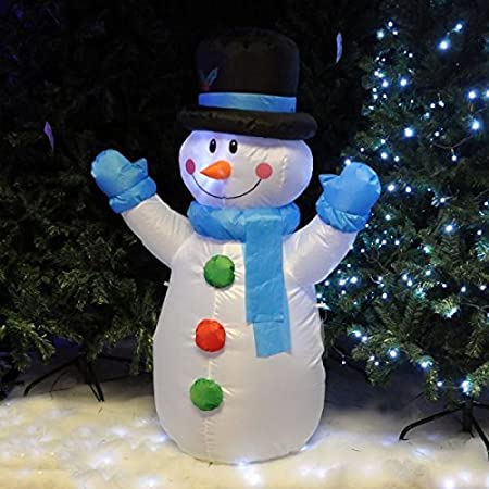 12m inflatable illuminated santa claus snowman self inflating electric blow up giant large outdoor garden