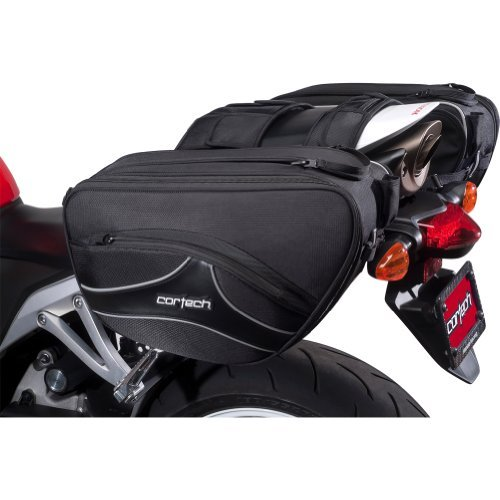 (Cortech Super 2.0 36-Liter Motorcycle Saddlebag - Black / 16.9