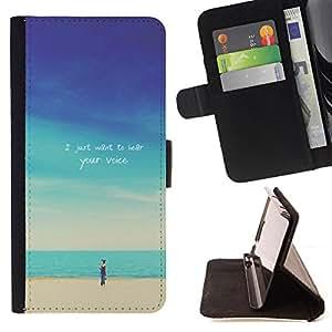 Dragon Case- Mappen-Kasten-Prima caja de la PU billetera de cuero con ranuras para tarjetas, efectivo Compartimiento desmontable y correa para la mu?eca FOR Samsung Galaxy S4 IV I9500 i9508 i959- Cartoon on Beach