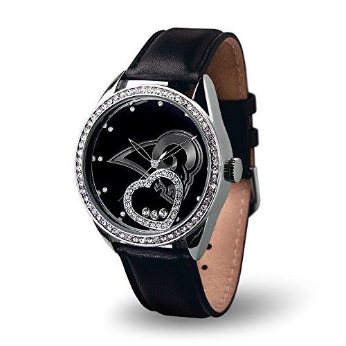 NFL Los Angeles Rams Beat Watch, Black (Louis Rams Leather Watch)
