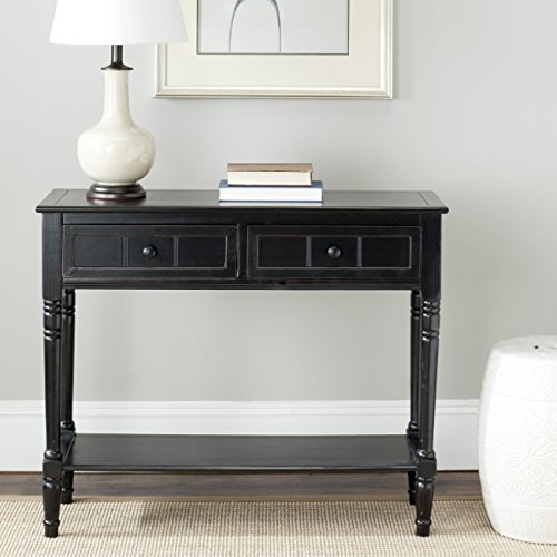Safavieh American Homes Collection Samantha Distressed Black 2-Drawer Console - Console Drawer