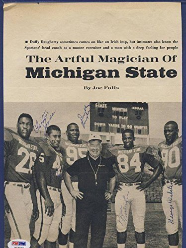 1966-Michigan-State-Football-Multi-Signed-Photo-PSADNA-Autographed-College-Photos