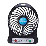 Rechargeable Mini Fan 4 Vanes Pocket Size Powered By 18650 Battery