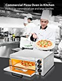 Electric Pizza Oven Countertop 14'' Stainless Steel