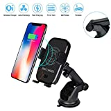 Wireless Fast Car Charger Holder with Automatic Infrared Sensor, Auto-clamping Qi Fast Charger Air Vent Cell Phone Mount for iPhone X/8/8 Plus Samsung Galaxy S9/S9 Plus & Qi Enabled Devices