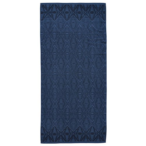 (Pendleton Pecos Sculpted Large Quick Drying Antimicrobial Cotton Bath Towel, Navy, One Size)