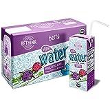 Rethink Kids Water, Flavored Water, Zero Sugar, Zero Calorie, Zero Sodium, 100% Recyclable, 200 mL Carton, Pack of 32 (Berry)