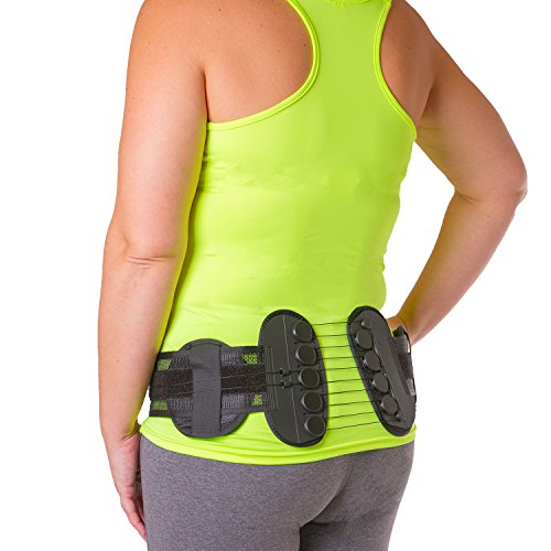 Sacroiliac Compression Brace | SI Joint Pain Relief Belt with Hip Support Pads for Bruised / Broken Tailbone Pain and Coccyx Injuries (One Size - Fits Women & Men with 32
