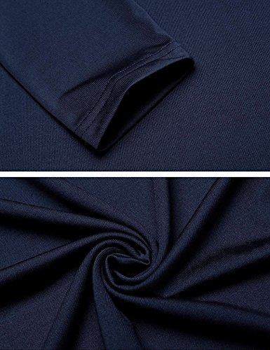 Long with Maxi Casual Dress Color Women's Pockets Long Sleeve Champlain Burlady Loose UW1Ba7