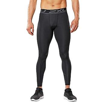 2Xu Mens Accelerate Print Compression Tights Running Bottoms Pants Black
