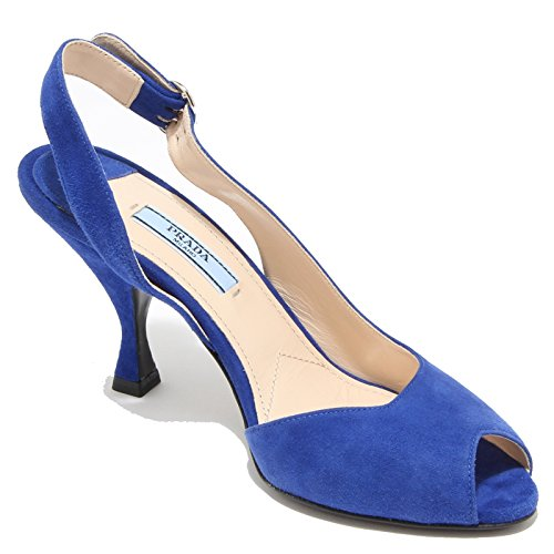 Women Prada Donna Scarpe 8266I Sandals Sandali Bluette XXqCH