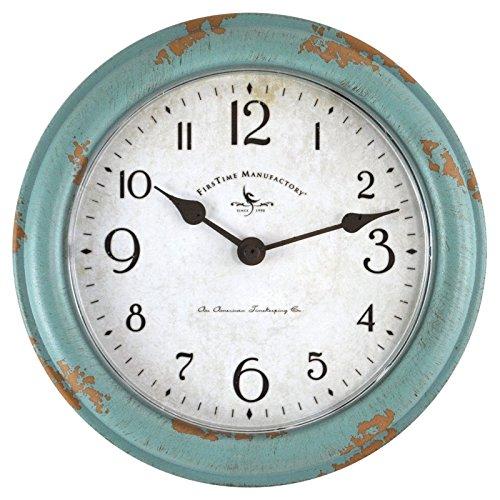 Wall Patina Decor (FirsTime 25678 Teal Patina Wall Clock, Aged)