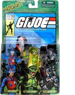 Helmet Gi Joe Weapon - GI Joe Scrap Iron Serpentor and Firefly Comic 3 pack