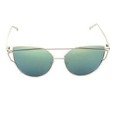 Gafas de sol Cat Eye Vintage Brand Designer Rose Gold Mirror ...