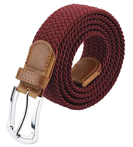 Maikun Belts For Men, Canvas Elastic Belt, Men Belt 41-49 Adult Adjustable Elastic Belts