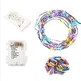 AceList 100 LED Clip Copper Light String, Hanging Photo Frame for Festival Decorations - Multicolor
