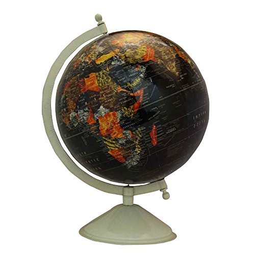 CRAFTSTRIBE Big Desktop Rotating Globe World Geography Ocean Office Table Decor 13