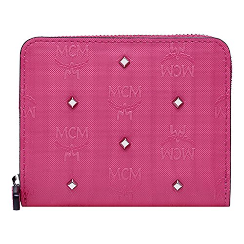 2016 Ss New Mcm Authentic Claudia Studs Half Wallet - Beetroot Pink Mys6sca08pu
