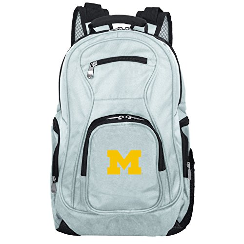 NCAA Michigan Wolverines Voyager Laptop Backpack, 19-inches, Grey