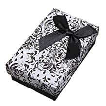 SODIAL(R) 1Pcs Jewellery Gift Boxes Necklace Pendant Bracelet Ring Display Storage Holder Black
