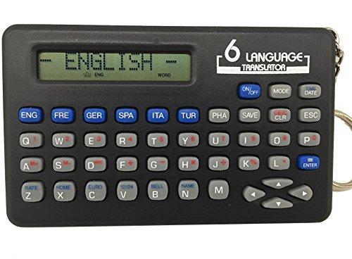 6-Languages Electronic Translator with Keychain
