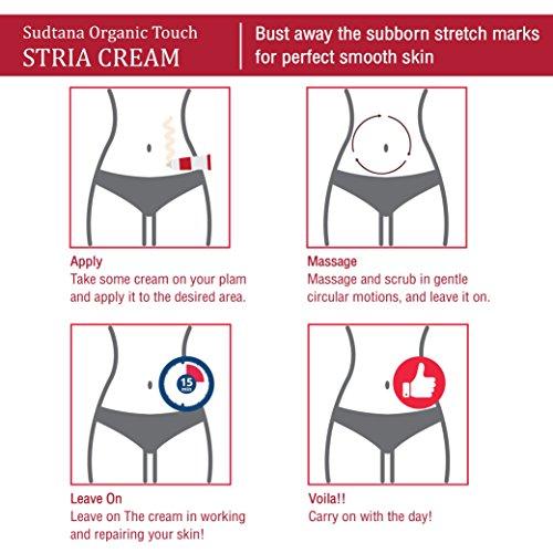 STRIA Natural Stretch Marks, Scar & Dark Spot Remover | Stretch Mark Cream for Skin Hydration, Exfoliation, Tightening & Collagen Boost | Pregnancy Belly Care for Prenatal-Postnatal & Pregnant | 3 pcs by GreenTouch (Image #8)