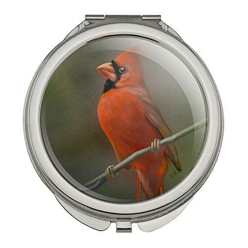 Red Cardinal Bird On Branch Compact Travel Purse Handbag Makeup ()