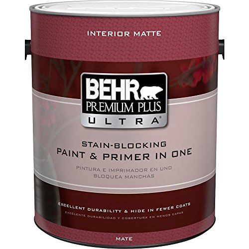 BEHR Premium Plus Ultra 1-Gal. Ultra Pure White Flat Enamel Interior Paint