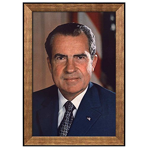 Portrait of Richard M Nixon (37th President of the United States) American Presidents Series Framed Art Print
