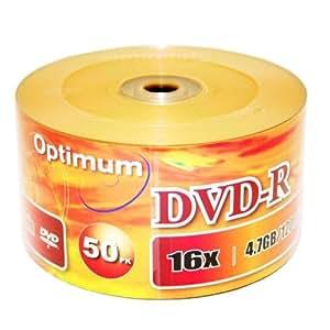 Optimum DVD-R 16X Gold Imprint Logo Blank DVDR Media Disc (OPTDM1650B) 4.7GB (50 Pack X 2)